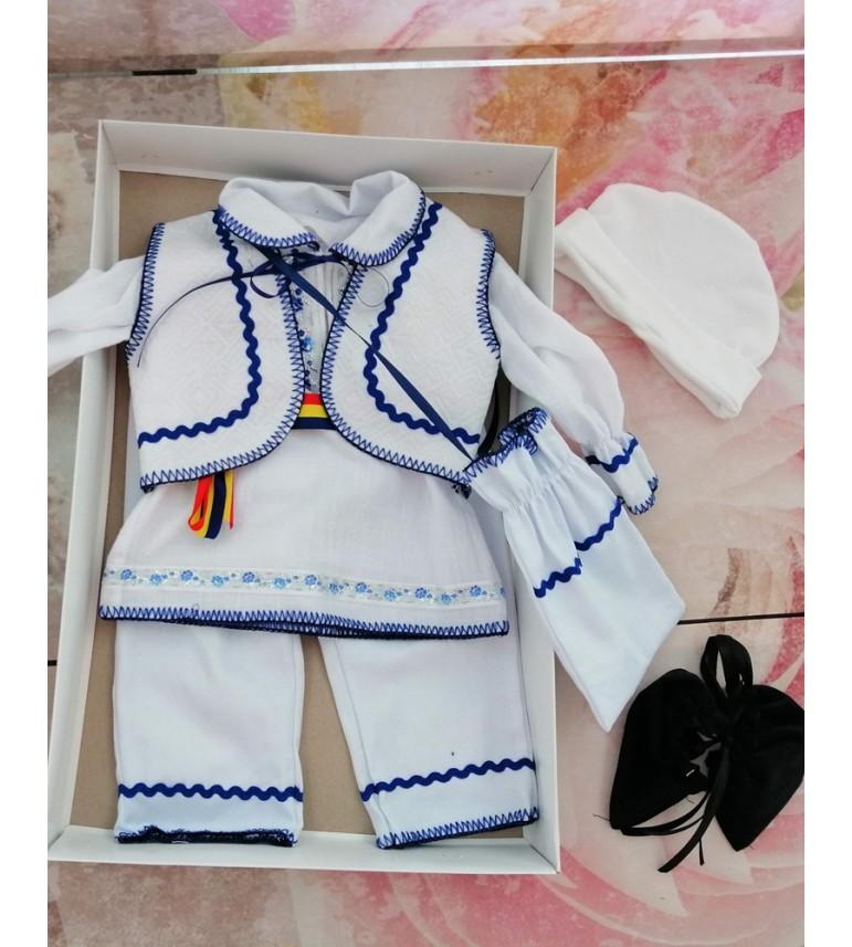 Costumas traditional baietei albastru