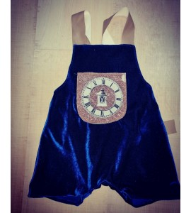 Salopeta albastra vintage