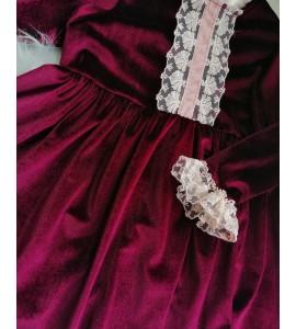 Rochita catifea burgundy