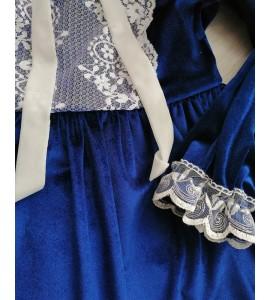 Rochita catifea albastra